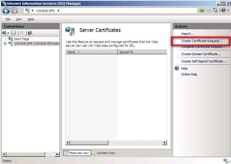 Microsoft Iis 7 How To Generate A Csr