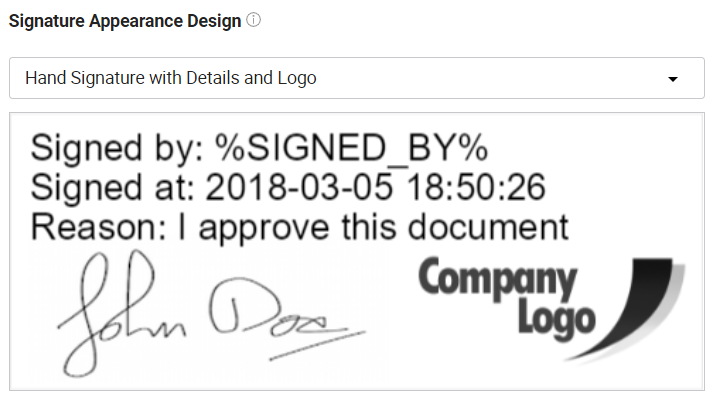 Use signature, details and logo.