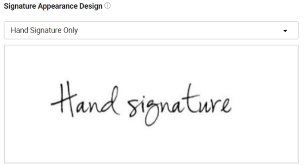 Use a handwritten signature only.